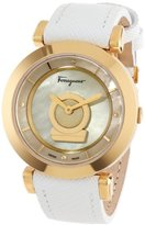 Salvatore Ferragamo Women's Minuetto Gold Ion-Plated Coated Stainless Steel Mother-Of-Pearl Dial Watch