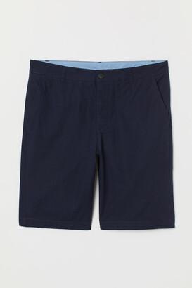H&M Knee-length Cotton Shorts - Blue