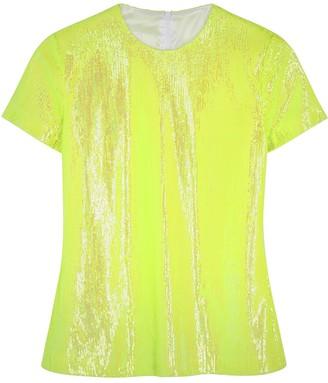 Maison Margiela Neon yellow sequin T-shirt