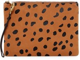 Fossil Large Cheetah Printed Leather Wristlet