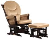 Dutailier Light Brown Microfiber Glider Chair/ Ottoman Set