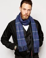 Barbour Tattershall Lambswool Scarf - Blue