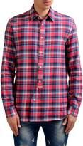 """Maison Margiela '10"""" Men's Flannel Plaid Casual Shirt"""