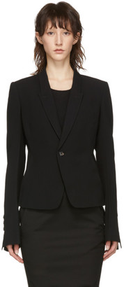 Rick Owens Black Classic Tailored Short Blazer