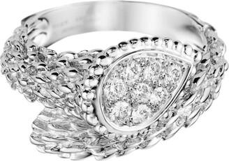 Boucheron White Gold Serpent Boheme Ring