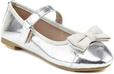 Silver Textured Bow Flat