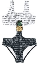 MonnaLisa logo print pineapple swimsuit