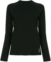 Chanel Pre Owned side stripes ribbed jumper