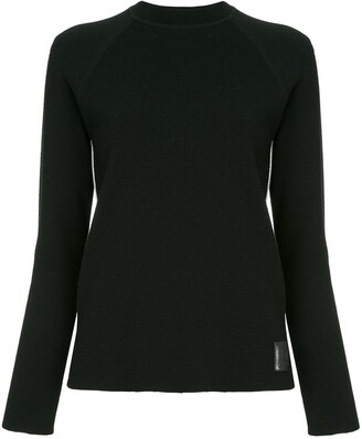 Chanel Pre-Owned side stripes ribbed jumper