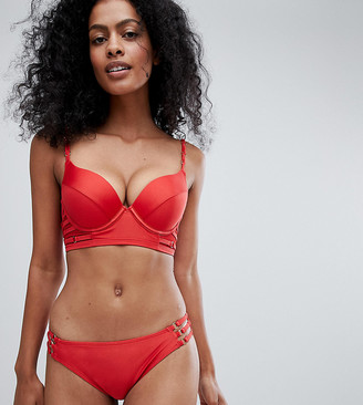 Wolfwhistle Wolf & Whistle Fuller Bust Strappy Long Line Bikini Top DD-G