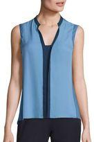 Elie Tahari Karrie Colorblock Silk Blouse