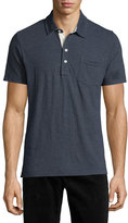 Billy Reid Pensacola Short-Sleeve Jersey Polo Shirt, Black