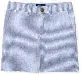 Ralph Lauren Striped Stretch Seersucker Shorts, Provincetown Blue, Size 2-4