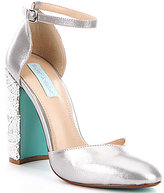 Betsey Johnson Blue by Sybil Metallic Bead & Sequin Embellished Pumps
