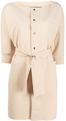 Le Petite Robe Di Chiara Boni Tied-Waist Coat