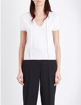 Allude V-neck cashmere top