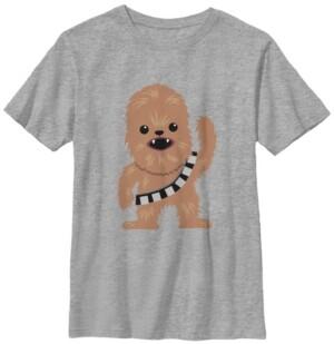 Fifth Sun Star Wars Big Boy's Chewbacca Cutie Cartoon Chewie Short Sleeve T-Shirt