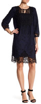 T Tahari Amanda Embroidered Dress