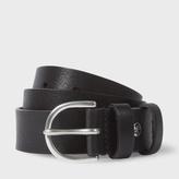 Paul Smith Men's Black Leather Double Keeper Belt