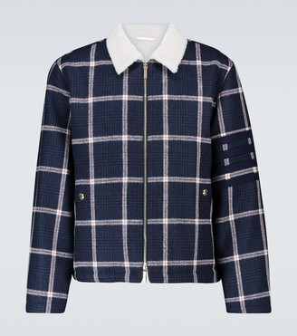 Thom Browne Shearling aviator jacket