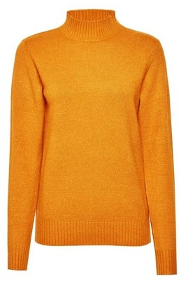 Dorothy Perkins Womens Vila Yellow High Neck Knittd Jumper