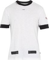 Off-White Contrast-trim cotton T-shirt
