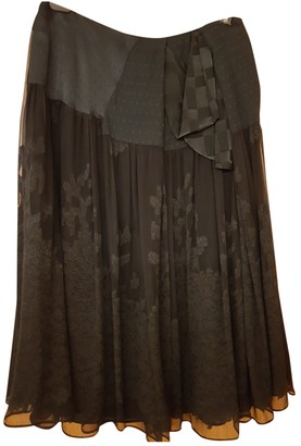 Antonio Marras Black Silk Skirt for Women Vintage