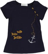 Lucky Jade Raglan Dress (Toddler/Kid) - Navy-4
