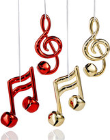 Holiday Lane Set of 4 Musical Note Glass Ornaments, Created for Macy's