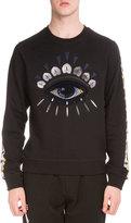 Kenzo Embroidered Icon Crewneck Sweatshirt, Black