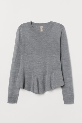 H&M Knit Sweater with Peplum