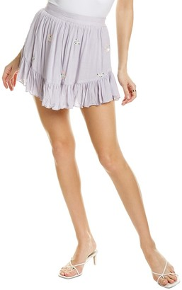 Rococo Sand Miracle Embroidered Mini Skirt