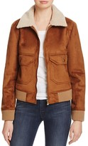Mother Aviator Faux Shearling Jacket