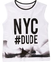 River Island Mini boys white NYC print tank