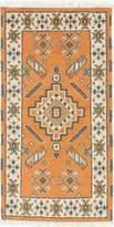 Ecarpetgallery Hand-knotted Oriental Kazak Geometric 2' x 3' Ivory 100% Wool area rug