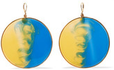 Missoni Gold-tone Enamel Earrings - Blue