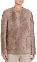 Max Mara Racer Shearling Pocket Coat