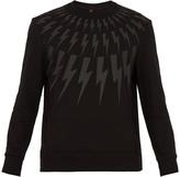 Neil Barrett Lightning bolt-print cotton sweatshirt