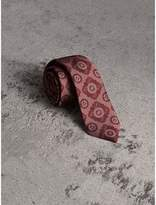 Burberry Slim Cut Tiled Floral Silk Jacquard Tie