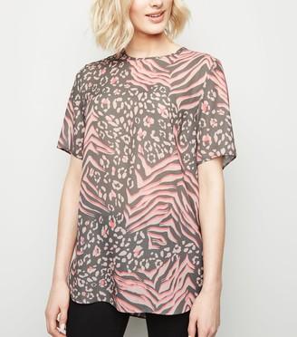 New Look Tall Mixed Animal Print T-Shirt