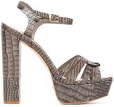 Schutz snakeskin effect sandals