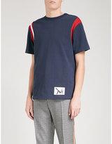 Calvin Klein 205w39nyc Shoulder-stripe Cotton T-shirt