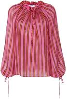 MSGM billowing striped blouse