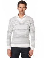 Perry Ellis Multi Pattern V-Neck Sweater