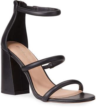 BCBGeneration Rain Leather Triple Strap Sandals