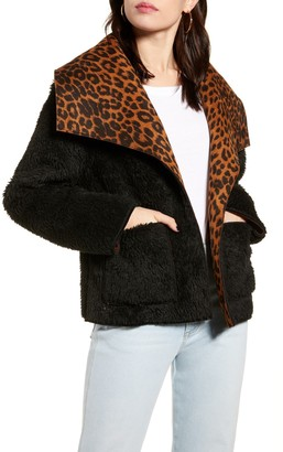 MinkPink Let It Happen Faux Fur Reversible Jacket
