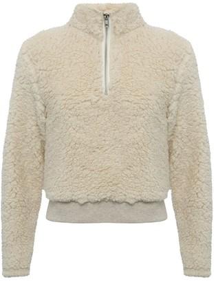 M&Co Teen zip neck borg hoodie