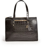 GUESS Women's Kingsville Croc-Embossed Tote