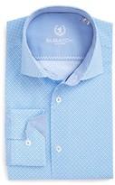 Bugatchi Men's Trim Fit Print Dress Shirt