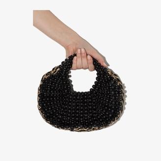 Aranaz Black Beaded Tote Bag